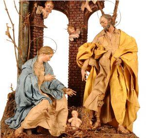 Orazio Schettino, Scarabattola con la Sacra Famiglia, due angeli e due cherubini, Collezione Bordoni, Bologna